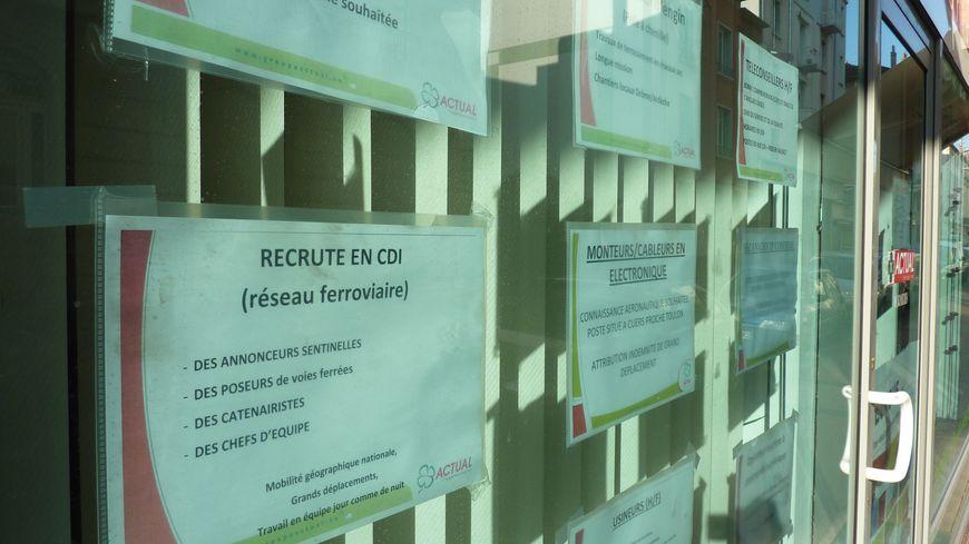 Une agence d'intérim à Valence. Image d'illustration.