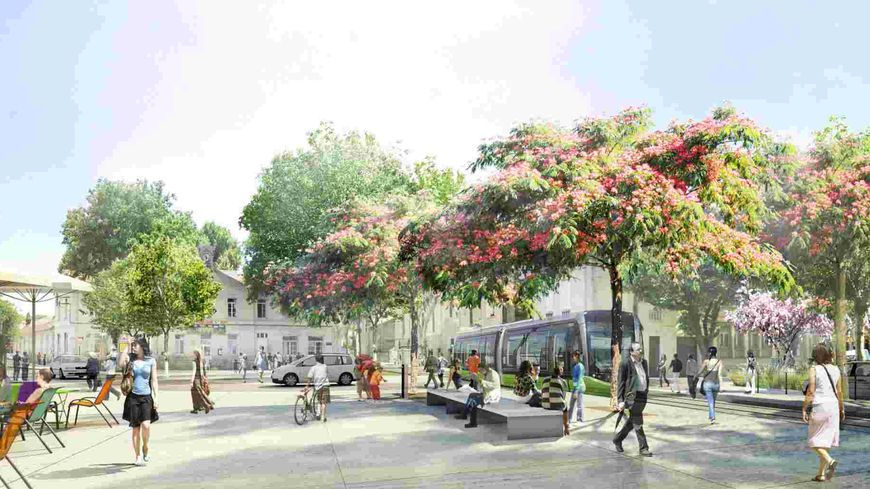 Tramway du Grand Avignon  - station St Ruf