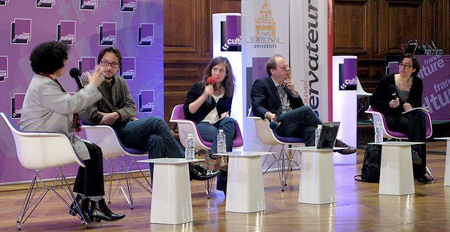 De gauche à droite : Armelle Enders, Romain Bertrand, Anais Kien, Patrick Boucheron et Chloé Maurel