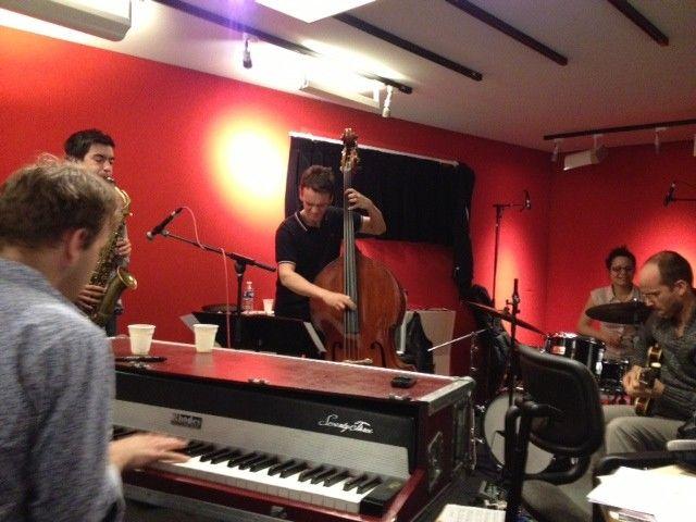 Anne Pacéo Quintet dans le studio 61 de France Inter