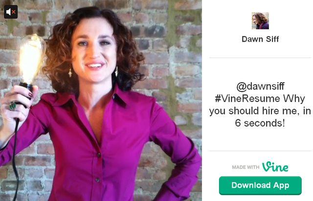 """Le """"CV Vine"""" de Dawn Siff"""