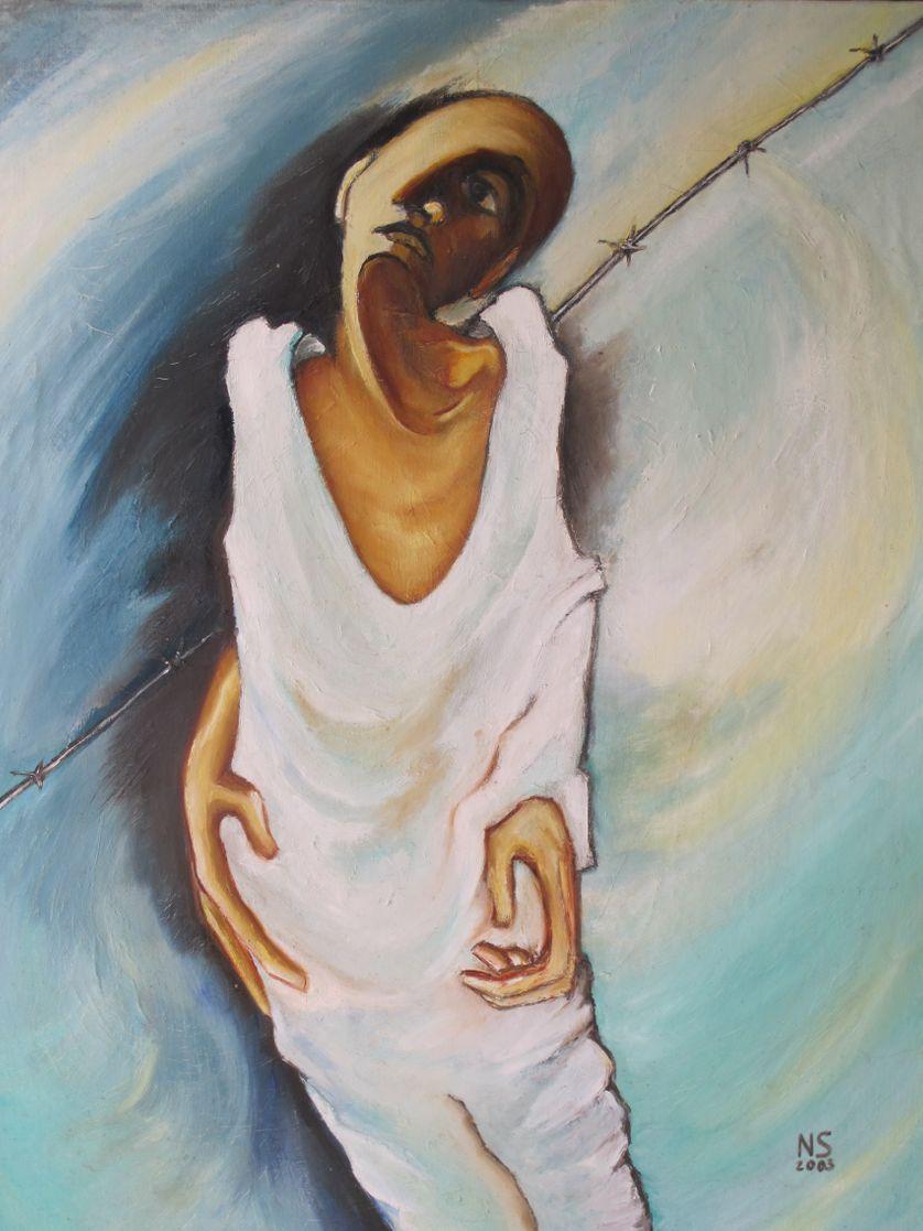 Chère Eugénie (Huile sur toile, 92x37 cm, 2003)