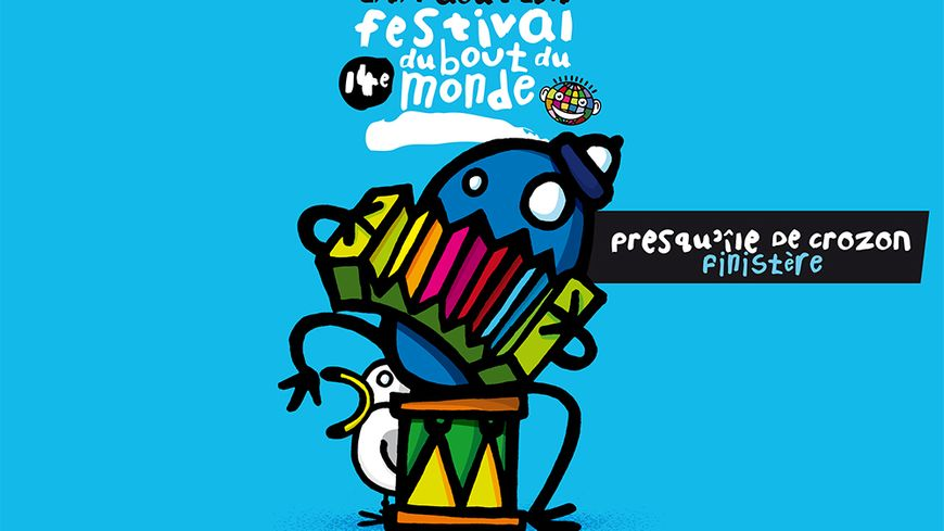 Découvrez l'affiche du 14ème Festival du Bout du Monde en Presqu'île de Crozon sur France Bleu Breizh Izel