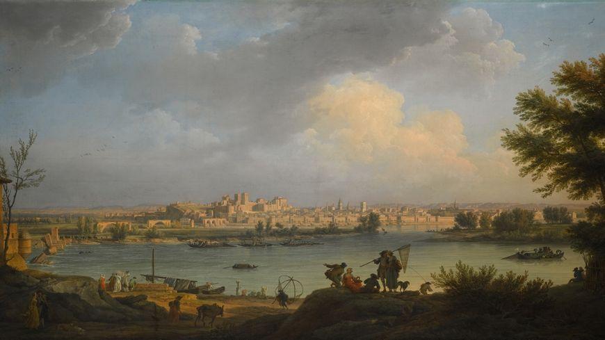 A view of Avignon, from the right bank of the Rhône near Villeneuve, Claude-Joseph Vernet,  Avignon 1714 - 1789 Paris