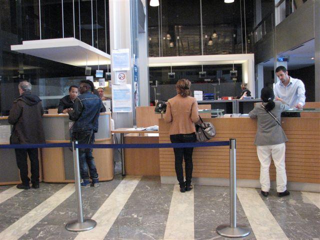 L'accueil aux guichets des Finances Publiques, à la cité administrative