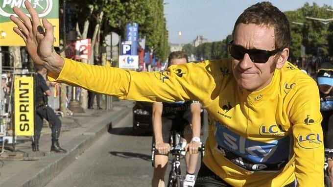 Bradley Wiggins, premier Britannique à remporter le Tour de France en 2012
