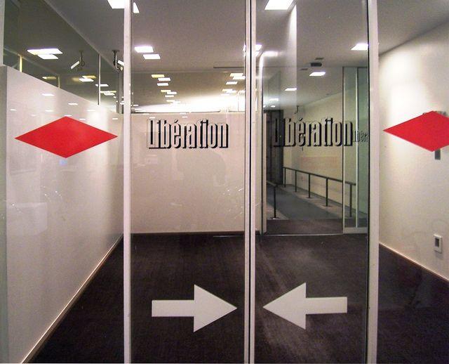 Hall d'entrée du quotidien Libération