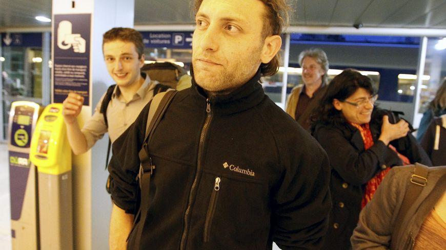Grenoble le 14 avril 2013 Pierre Borghi, ex-otage en Afghanistan durant quatre mois, est rentré ce soir après une escale à Paris