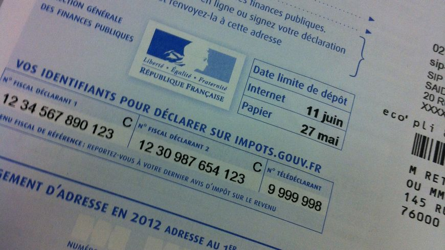Feuille d'impôts 2012