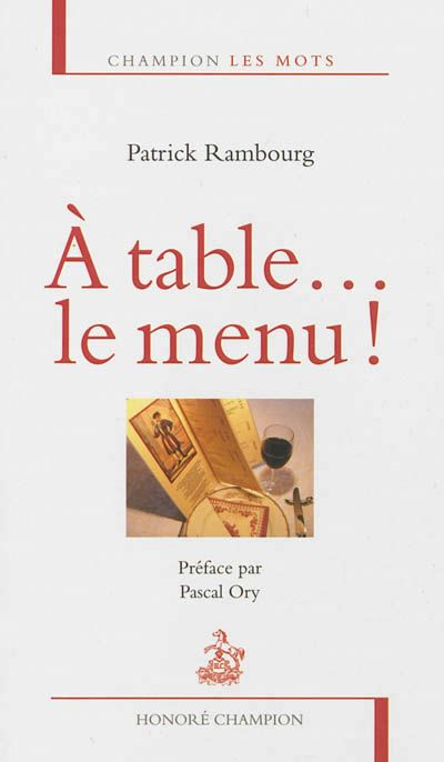 Patrick Rambourg - A table