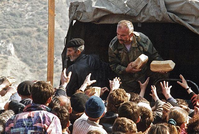 A la frontière avec le Kosovo, 1999