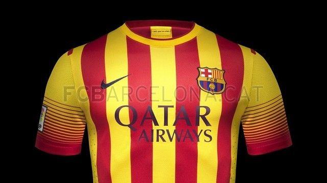 Le maillot extérieur du FC Barcelone pour la saison 2013/2014