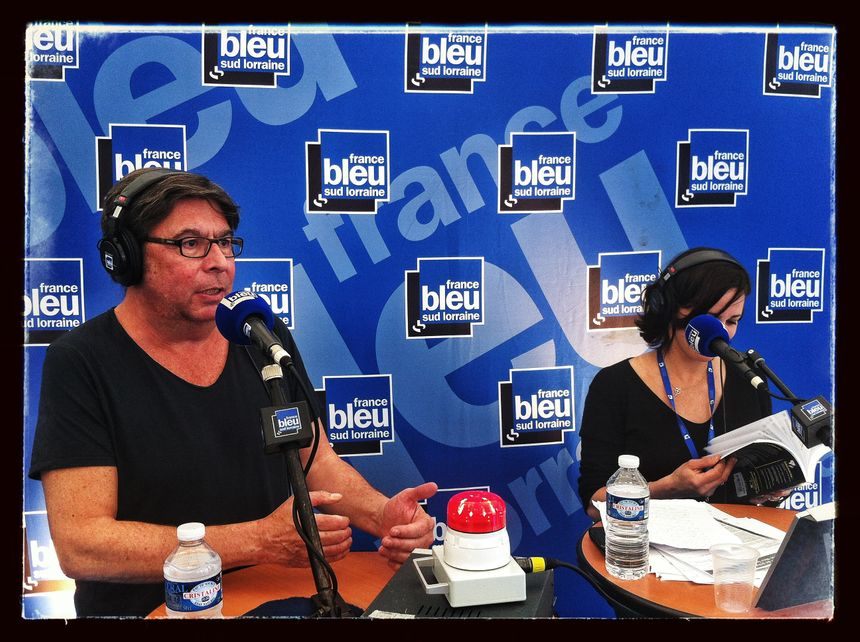 Gilles Verlant avec France Bleu Lorraine à la Foire Internationale de Nancy