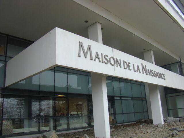 Fronton de la Maternité Jules Verne - Maison de la Naissance à Nantes