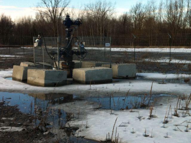 gaz de schiste - puits du village de la Présentation