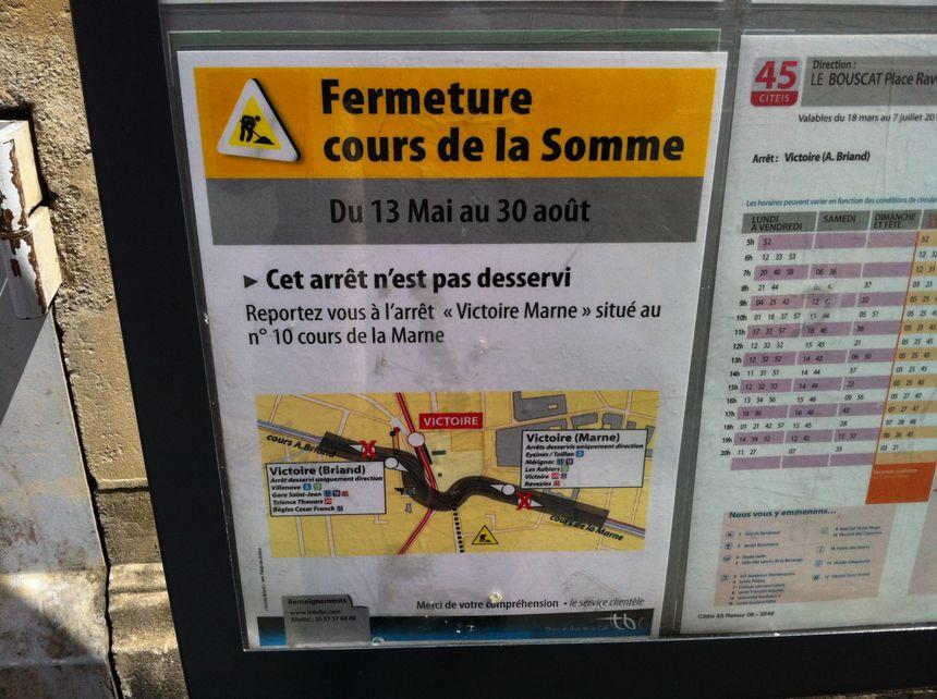 Les arrêts de bus place de la Victoire vont changer le temps des travaux