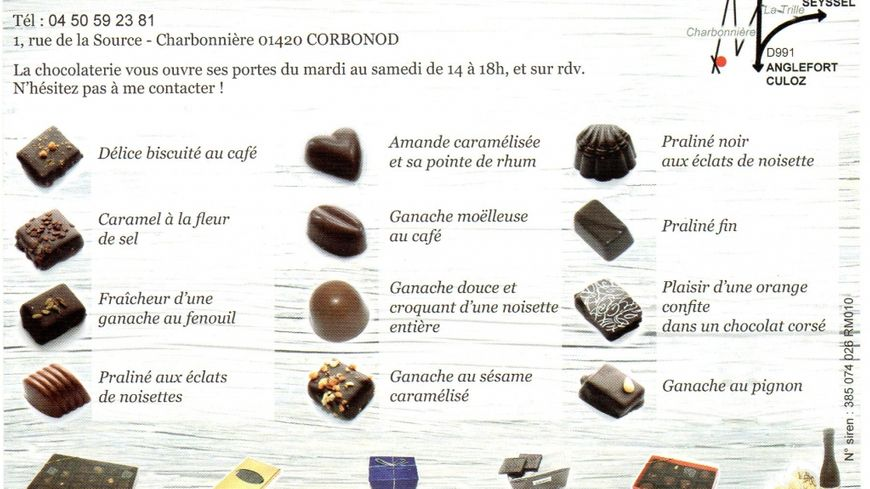Clarisse POUDENX de la chocolaterie du Hameau à CORBONOD