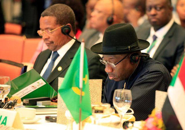 Goodluck Jonathan, président du Nigeria et Jakaya Mrisho Kikwete, président tanzanien
