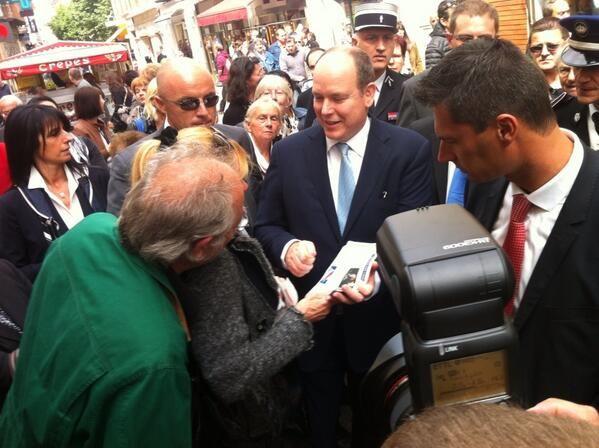 Le prince Albert en visite officielle dans la Drôme