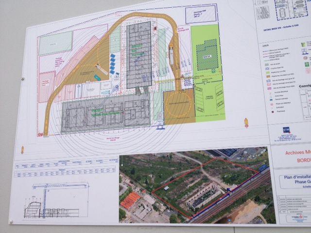 Plan des futures Archives municipales de Bordeaux