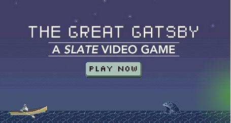 Capture d'écran du jeu Gatsby de Slate.fr