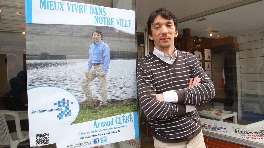 Arnaud Cléré, candidat ex UMP à l'élection municipale de Gamaches dans la Somme