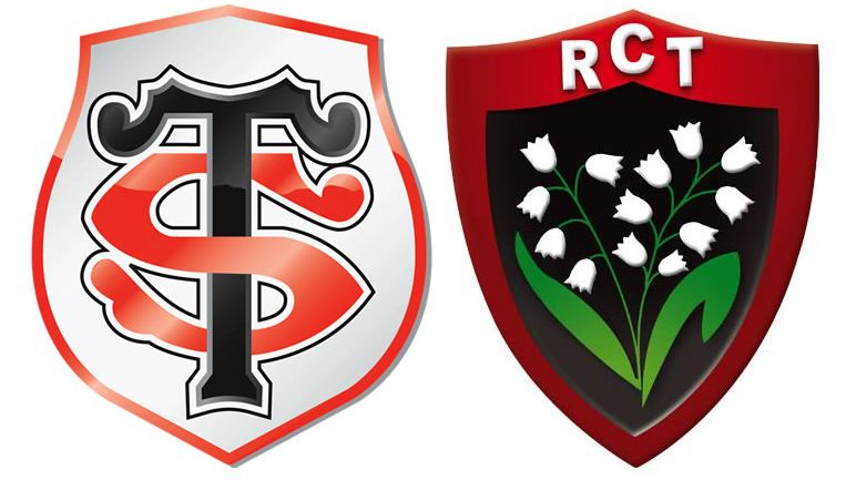 Rugby : logos Toulouse / Toulon