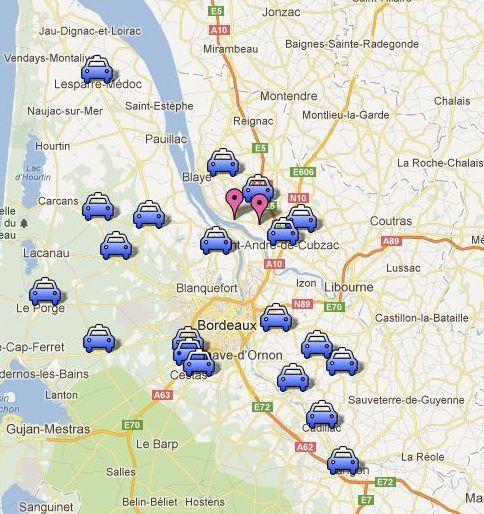 Les 20 aires de covoiturage de Gironde