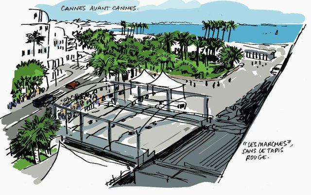 Aux marches du palais - Bulles de Cannes