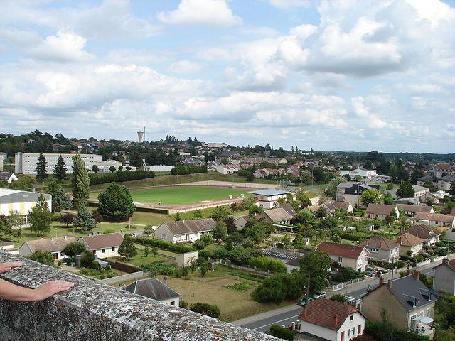 Le Blanc (Indre) - Vue sur la commune, depuis le sommet du viaduc