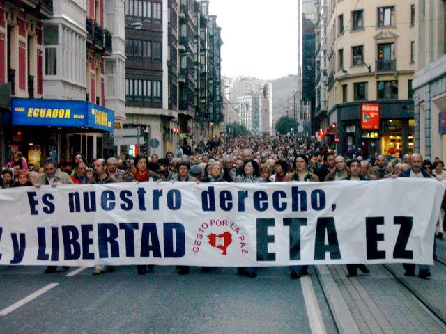 Manifestation contre l'ETA à Bilbao en 2007
