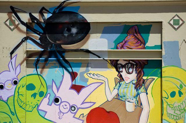 Une fille et une araignée (Girl and a spider)