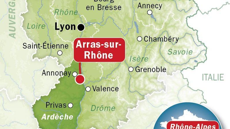 Arras-sur-Rhône - le corps d'un enfant découvert près d'un barrage