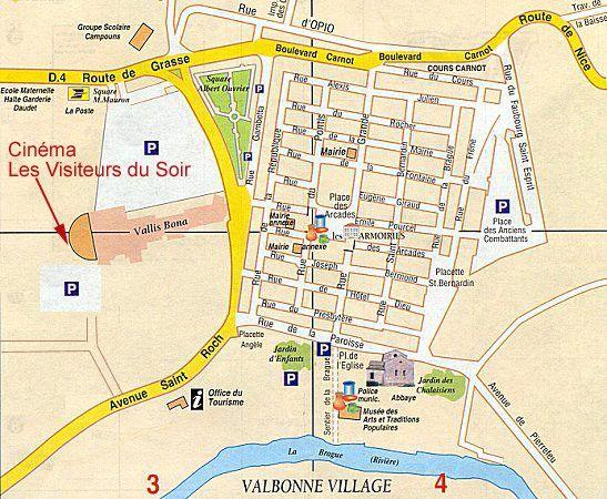 Les Visiteurs du Soir - plan du cinéma de Valbonne