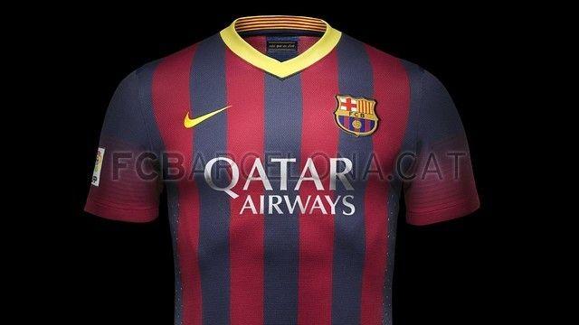 Le maillot domicile du FC Barcelone pour la saison 2013/2014