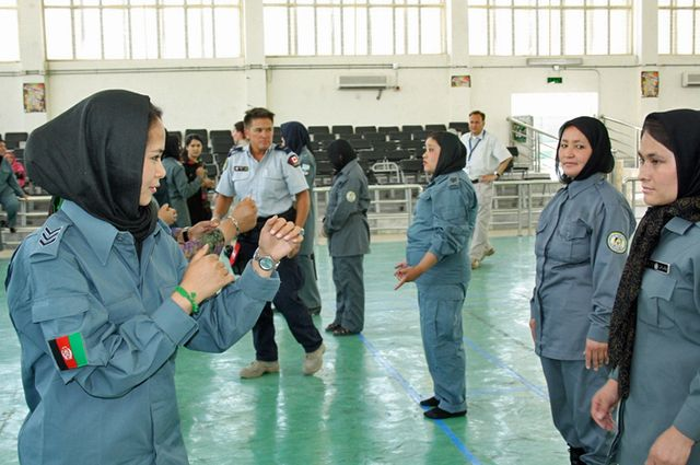Entrainement des policières afghanes