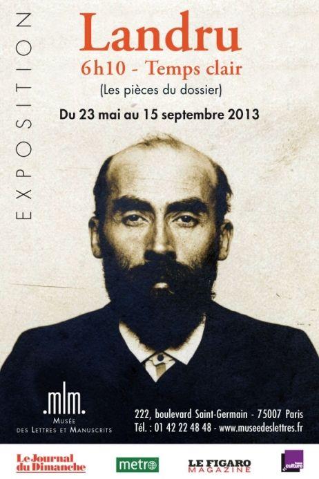 Affiche de l'exposition consacrée à Landru