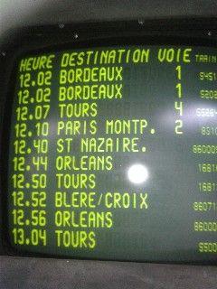 Panneau SNCF