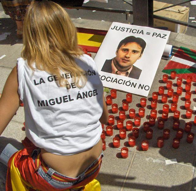 Miguel Angel Blanco, conseiller municipal en Biscaye, tué par l'ETA en juillet 1997