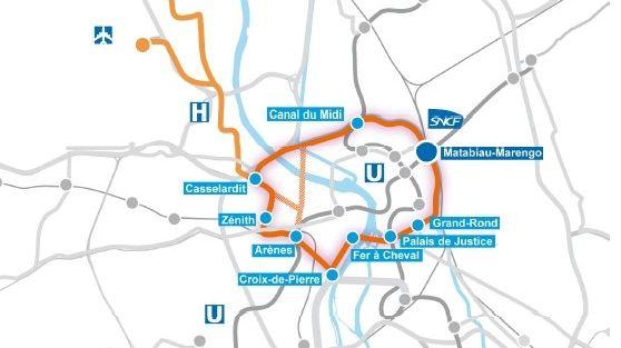 La question du jour :  à Toulouse pourquoi prolonger le tram Garonne le long du canal du Midi vers la gare Matabiau
