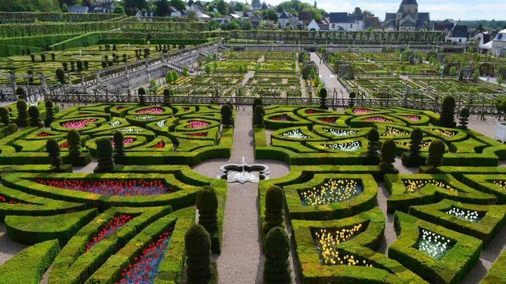 Le jardin d'amour du Château de Villandry en mai 2013