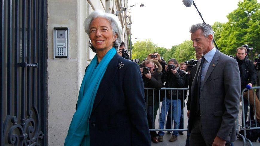 Christine Lagarde à son arrivée à la Cour de justice de la République