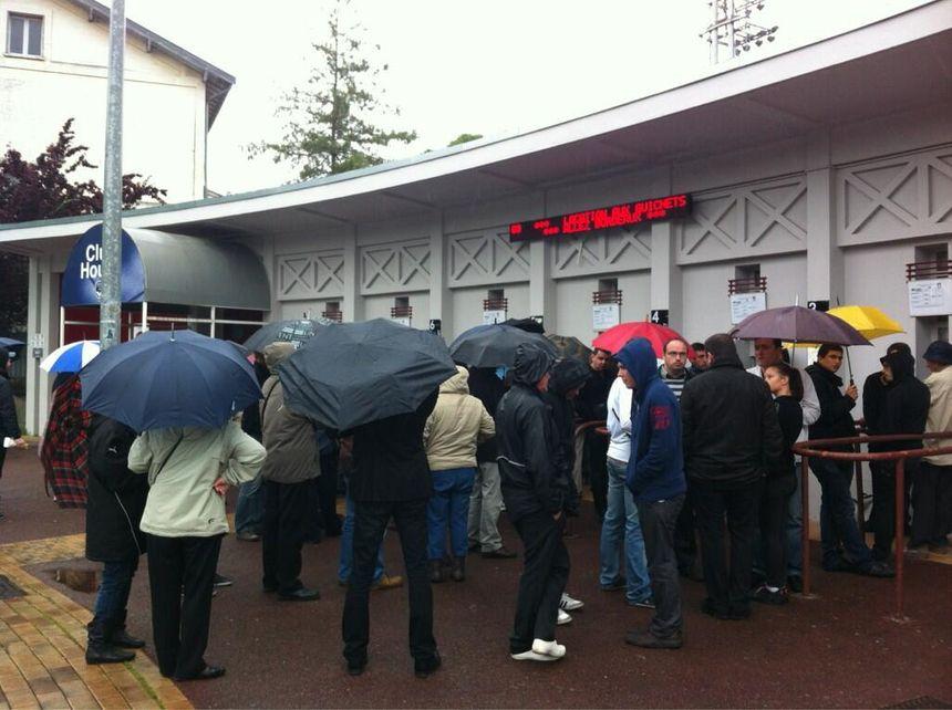 Les supporters des Girondins sont venus malgré la pluie