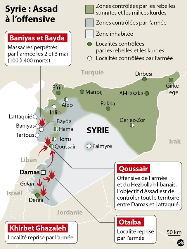 Syrie, infographie
