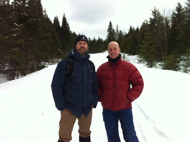Forêt Montmorency - Pierre Vaillancourt, guide naturaliste, et André Desrochers, professeur au département des sciences du bois