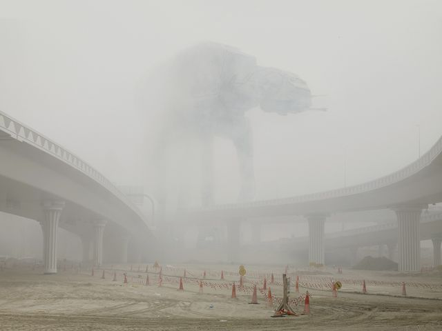 Dark Lens. Dubai. At-At under fog. 2009