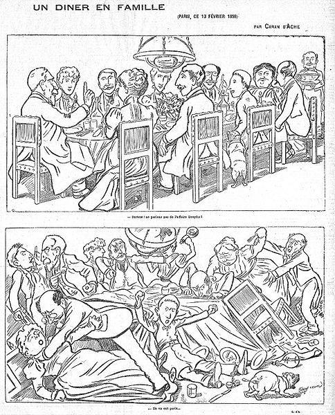 Diner en famille? Caran d'Ache. 1898.