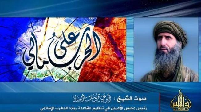 Capture d'écran de la vidéo mise en ligne par Aqmi