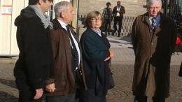 Christine De Vedrines, entourée de son mari Charles-Henri, de son fils Amaury et de son beau-frère Philippe
