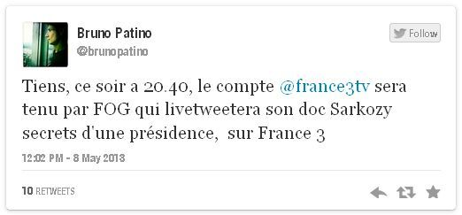 Tweet de Patino